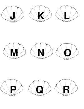 Sea Shell Alphabet