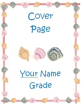 Sea Shell Beach Theme Collection (Cover Sheets and Sticker Charts)