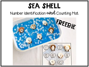 Sea Shell Counting and Number Identification Mat Freebie