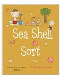 Sea Shell Sort Sorting Long i and Long o Words