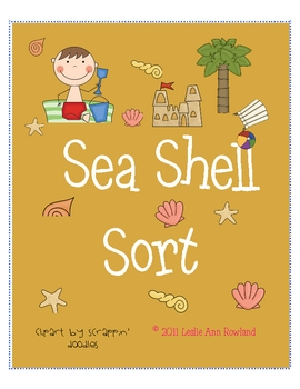 Sea Shell Sort Sorting Long i and Long o Words