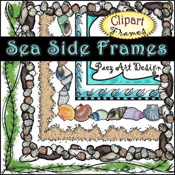 Sea Side Clipart Frames {Paez Art Design}