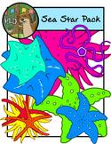 Sea Star Rainbow Mega Pack - Clipart