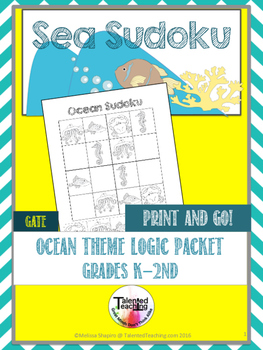 Early Finisher's Ocean Animals Critical Thinking Sudoku Puzzles