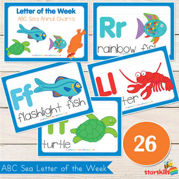 Sea Theme ABC Letter of the Week Charts (26)