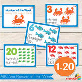 Sea Theme ABC Number of the Week Charts (1-20)