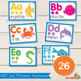 Sea Theme ABC Phonemic Awareness Cards (26)