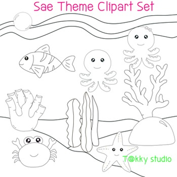 Sea Theme Clipart Set