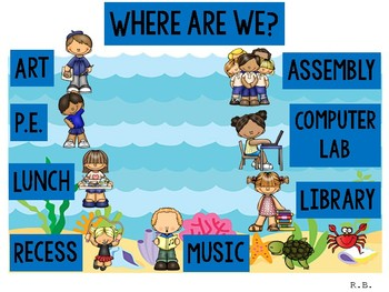 Sea Theme Where Are We? ¿Donde Estamos?