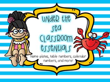 Sea Themed Classroom Essentials