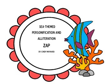 Sea-Themed Personification and Alliteration ZAP Figurative Language