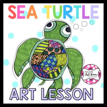 Sea Turtle Art Game for Kids (Emergency Sub Plans)