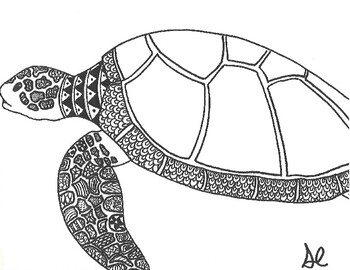 Sea Turtle Coloring Sheet - 2019 Open Coloring Pages | 270x350