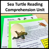 Sea Turtle Conservation Close Reading Unit with Comprehension Questions