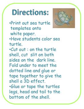 Sea Turtle Craft (ocean, under the sea)