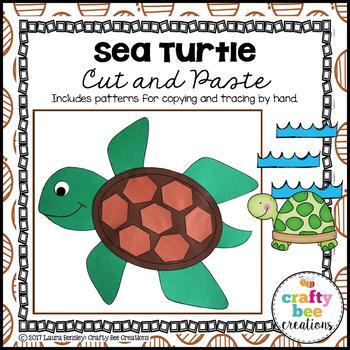 Sea Turtle Cut and Paste