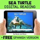Sea Turtle Reading Comprehension for Google Classroom