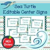 Sea Turtle - Editable Center Signs