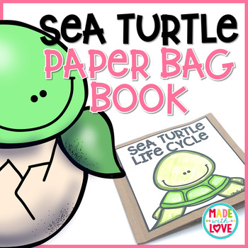 Sea Turtle Life Cycle Digital Resource and Paper Bag Book