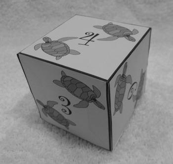 Sea Turtle Math: Sea Turtle Dice Templates Summer Math Center Activity