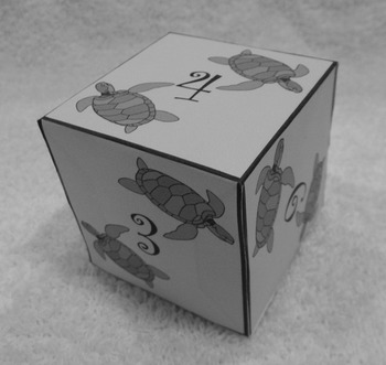 Sea Turtle Math: Sea Turtle Dice Templates Summer Math Center Activity