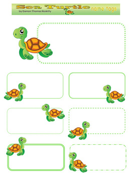 picture about Printable Name Tags for Preschool identified as Turtle Track record Tags Worksheets Coaching Components TpT