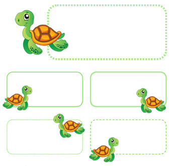 Sea Turtle Name Tags by childrenarethefuture | Teachers ...
