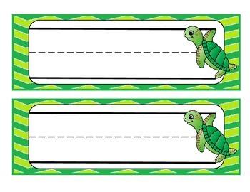 Sea Turtle Name Tags