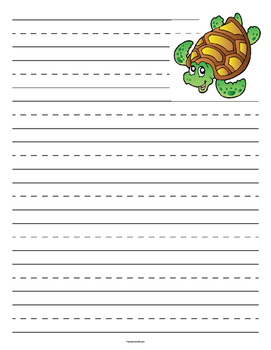 Sea Turtle Primary Lined Paper