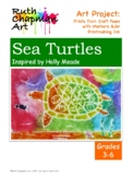 Sea Turtle Prints from Craft Foam: Art Lesson for Grades 3-6