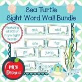 Sea Turtle - Sight Word Wall Bundle