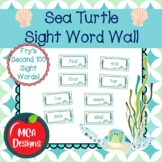 Sea Turtle - Sight Word Wall Fry's Second 100 Words