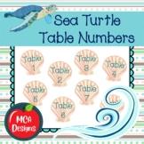 Sea Turtle - Table Numbers