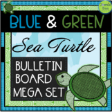 Sea Turtle Theme Bulletin Board & Banners Set