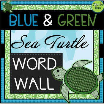 Sea Turtle Theme Word Wall Letters