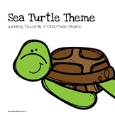 Sea Turtle Theme Working Towards & First/Then Charts