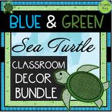 Sea Turtle Themed Classroom Decor Bundle (EDITABLE)