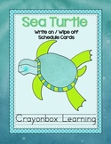 Sea Turtle Write On Wipe Off Schedule Cards - {with Editable file}