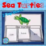 Sea Turtles Writing Flap Books Ocean Animals Kindergarten, First Grade & 2nd