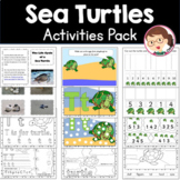 Ocean and Under the Sea - Sea Turtles Prek Literacy and Maths Activities