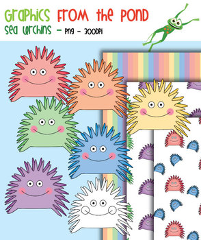 Sea Urchins - Clipart for Teachers and Classrooms