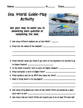 Sea World Mapping Activity