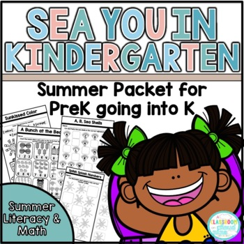 Sea You in Kindergarten {A No Prep Summer Packet for End of Preschool}
