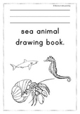 Sea animal drawing book.