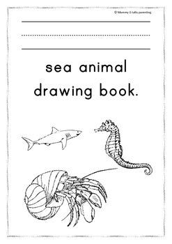 Sea animal drawing book.