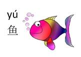 Sea animals Chinese Mandarin flashcards