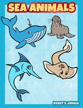 Sea animals Clip art pack