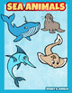 Sea animals Clip art pack