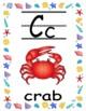 Sea animals alphabet