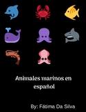 Sea animals in Spanish - Animales marinos en español para